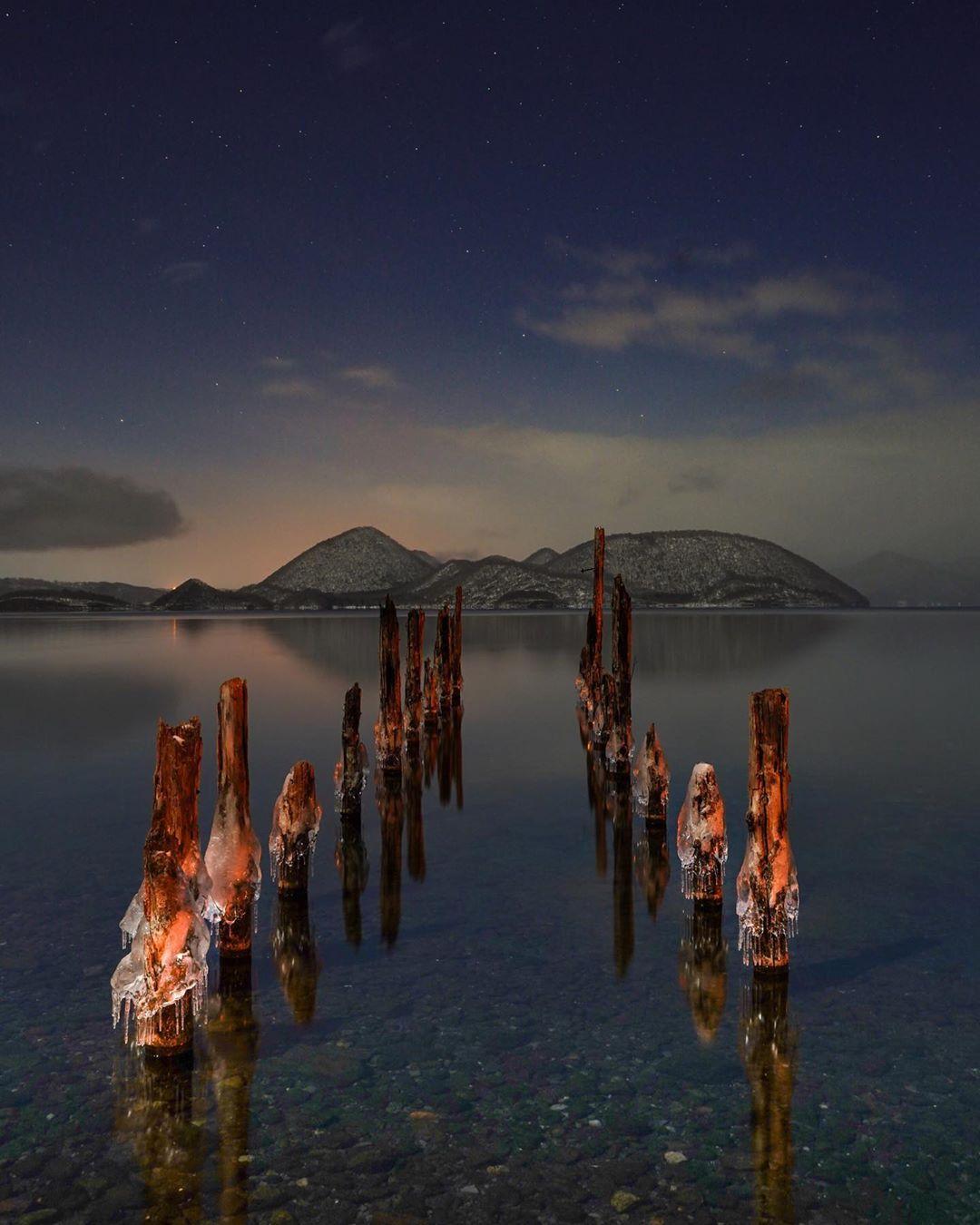 洞爺湖の桟橋