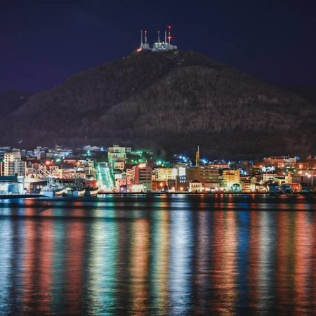 Million dollar night view in Hakodate