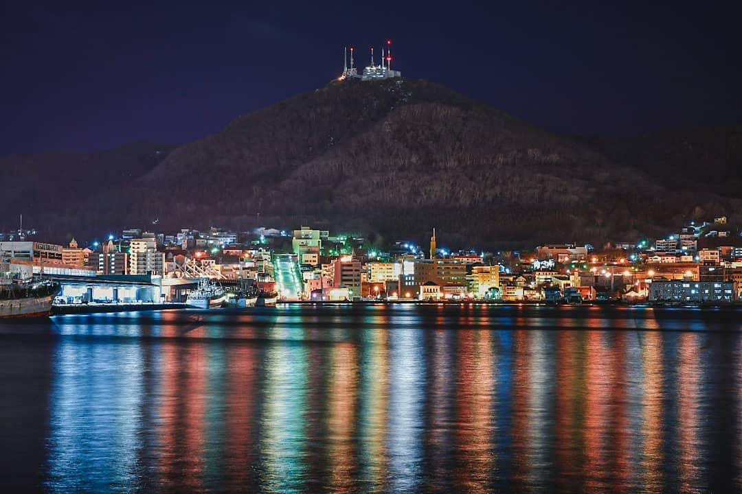 函館市の100万ドルの夜景