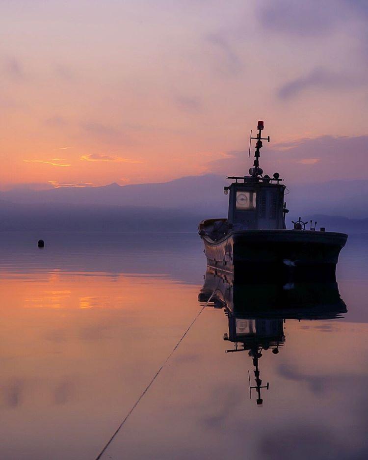 洞爺湖と船