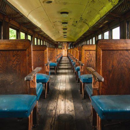 夕張市の廃列車