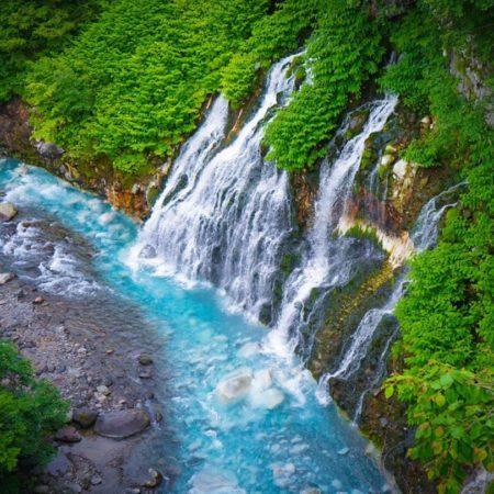 美瑛町の白ひげの滝