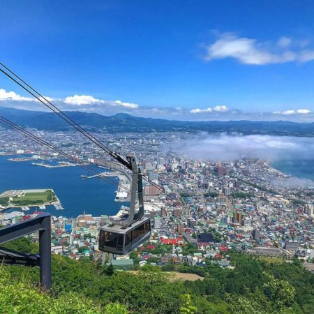 Ropeway and Sea of Clouds in Hakodate