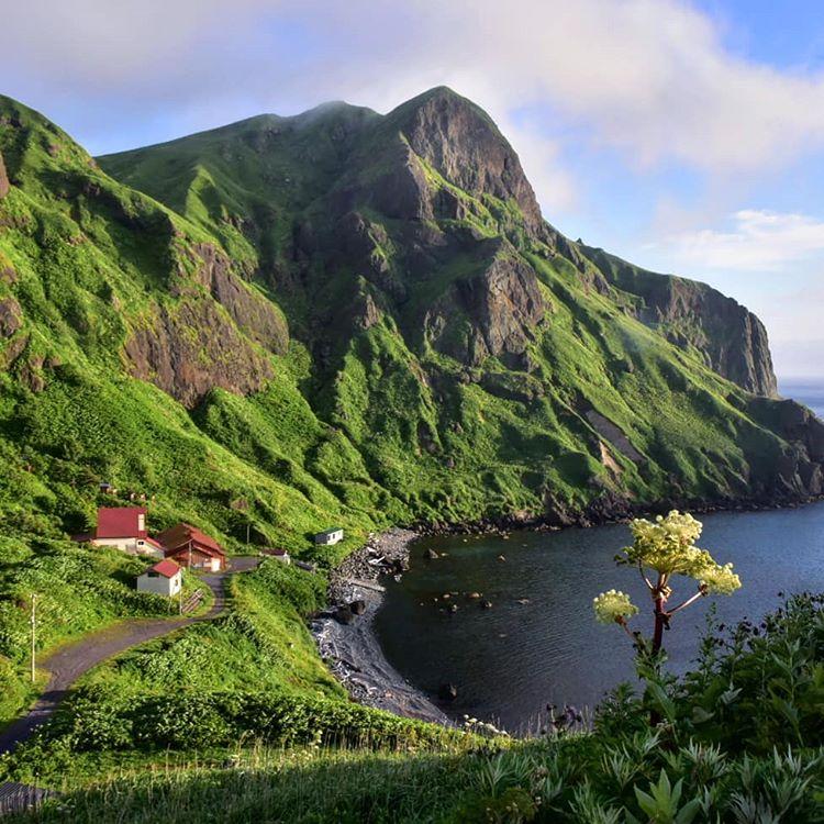 礼文島の海岸の景色
