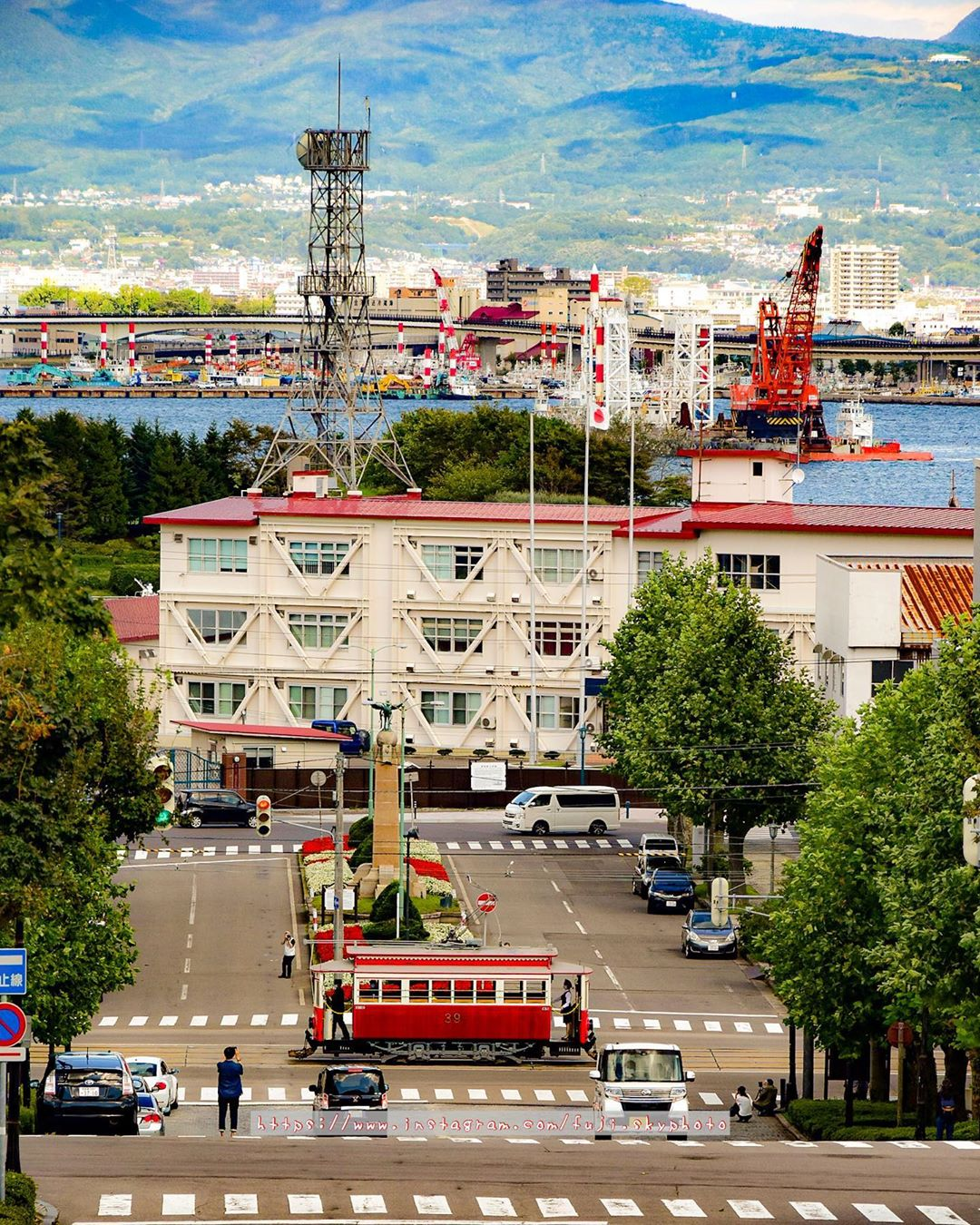 View of the city of Hakodate