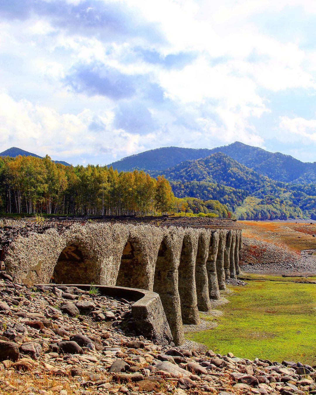 上士幌町のタウシュベツ川橋梁