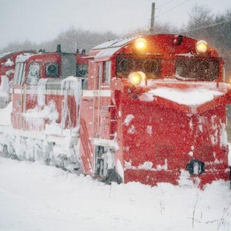 稚内市の雪かき車