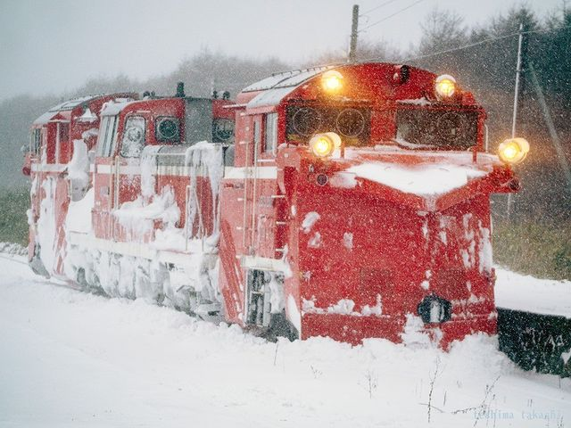 Snowplow in Wakkanai