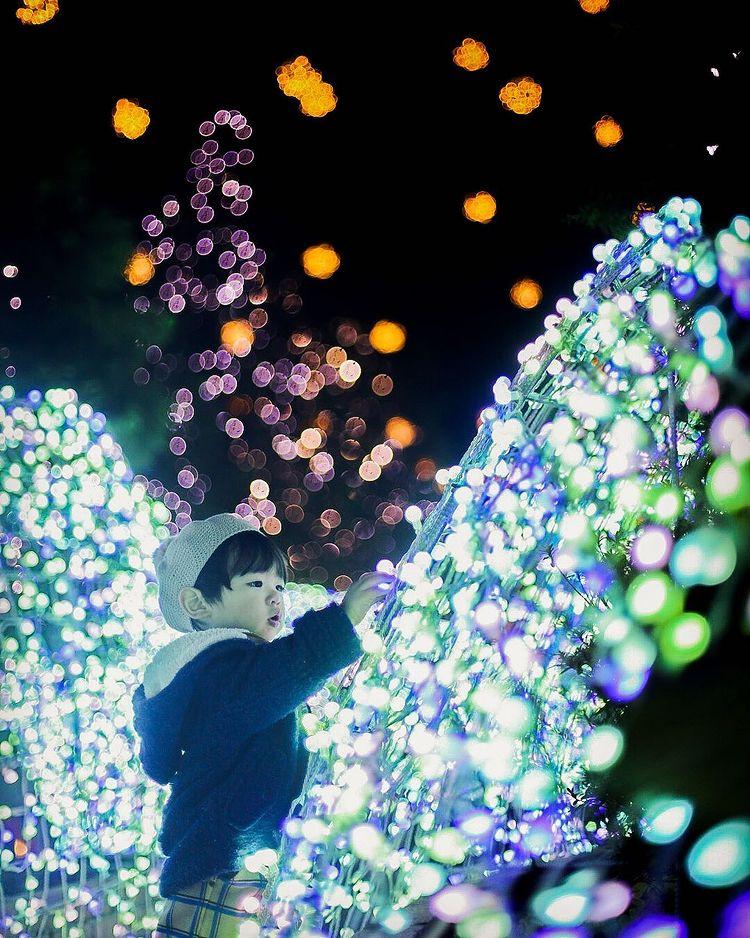 Illuminations and child in Sapporo