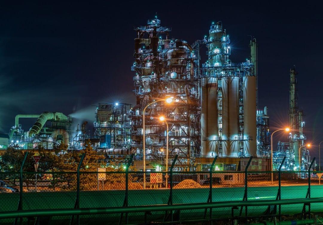 工場夜景(苫小牧市)