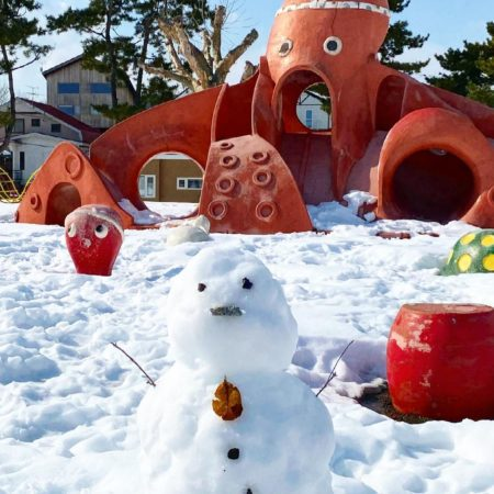 Octopus playground equipment and Snowman (Date)