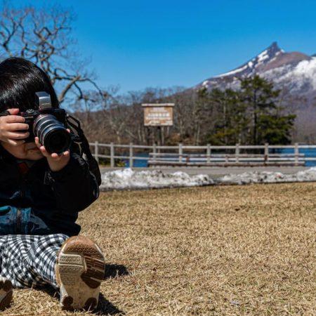 小さなカメラマン(七飯町)