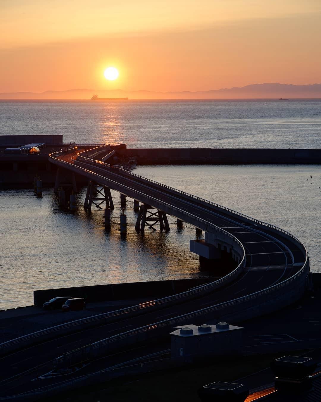 Bridge and Sunset (Muroran)