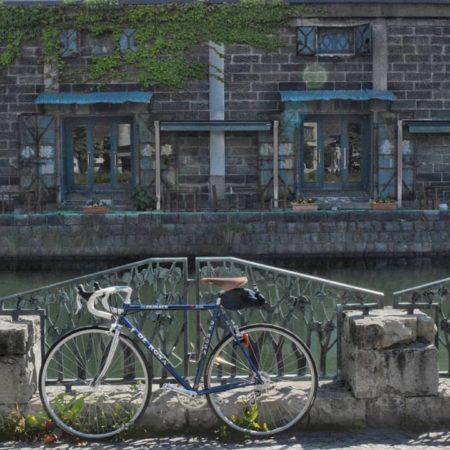 運河沿いのノスタルジックな景色(小樽市)