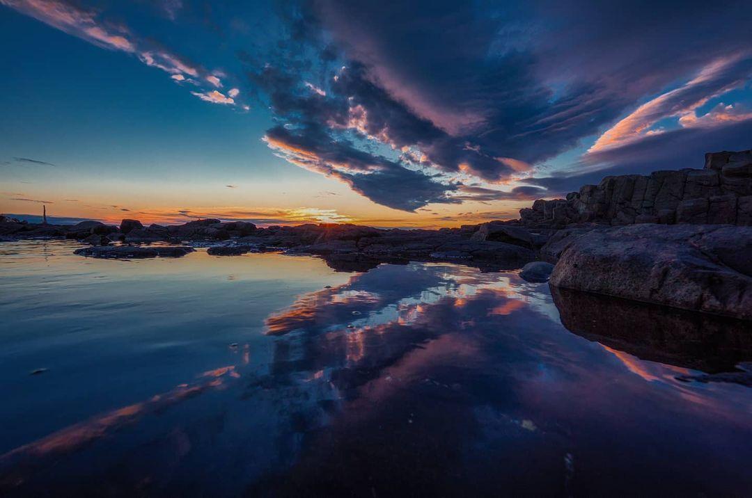 Beautiful summer sea at sunset (Rumoi)