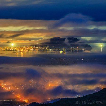 City light seen through clouds (Hokuto)